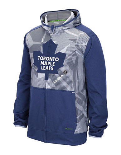 Reebok Toronto Maple Leafs Centre Ice TNT Zip Hoodie-DARK BLUE-X-Large