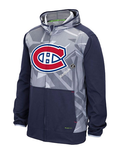 Reebok Montreal Canadiens Centre Ice TNT Zip Hoodie-TRUE NAVY-Medium