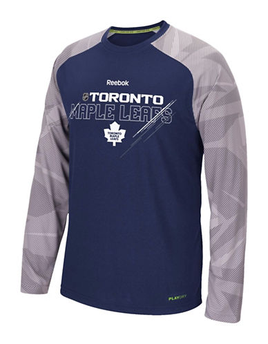Reebok Toronto Maple Leafs Centre Ice TNT Performance T-Shirt-DARK BLUE-Small