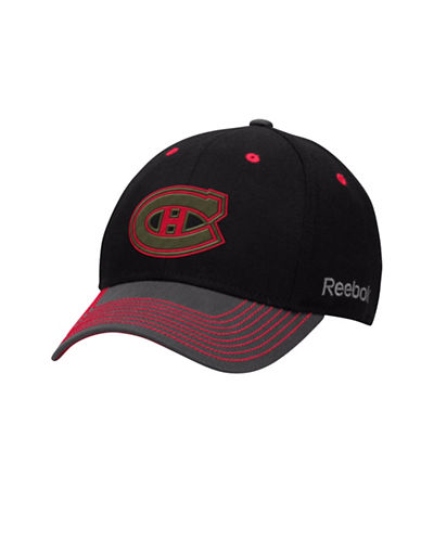 Reebok Montreal Canadiens Face-Off Tri-Tone Structured Flex Cap-RED MULTI-S/M