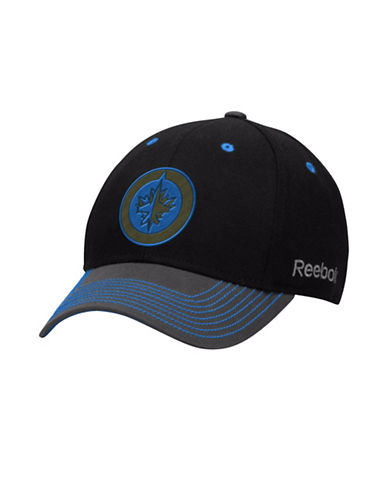 Reebok Winnipeg Jets Face-Off Tri-Tone Structured Flex Cap-BLUE-S/M