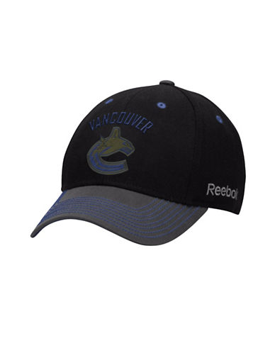 Reebok Vancouver Canucks Face-Off Tri-Tone Structured Flex Cap-DARK BLUE-S/M 88772048_DARK BLUE_S/M