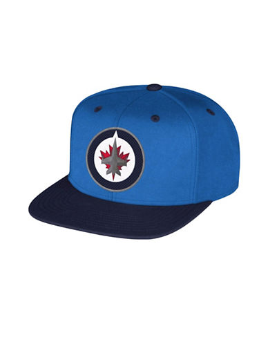 Reebok Winnipeg Jets Multi Color Flat Brim Wool Snapback Cap-BLUE-One Size