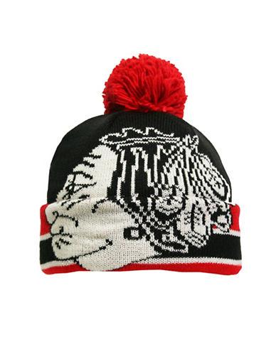 Reebok CCM Vintage Chicago Blackhawks Cuffed Pom-Pom Tuque-BLACK-One Size