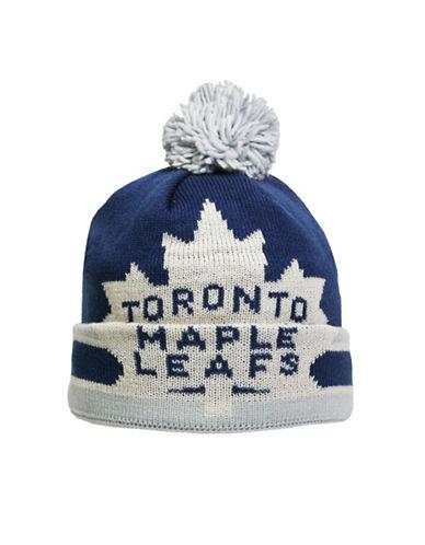 Reebok CCM Vintage Toronto Maple Leafs Cuffed Pom-Pom Tuque-WHITE-One Size