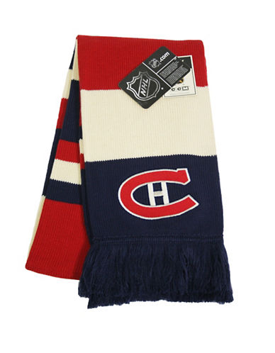 Reebok CCM Vintage Montreal Canadiens Jacquard Scarf-RED-One Size