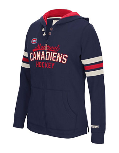 Reebok Montreal Canadiens Full Zip Hoodie-TRUE NAVY-X-Large