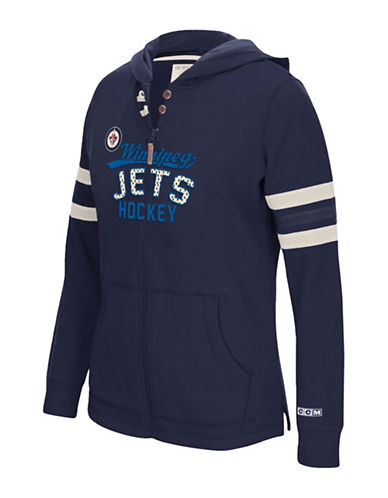 Reebok Winnipeg Jets Full Zip Hoodie-TRUE NAVY-Medium