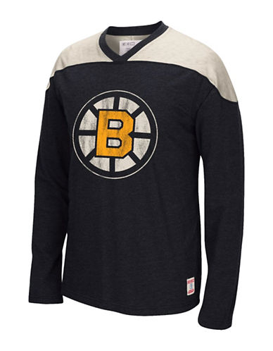 Reebok Boston Bruins CCM Long Sleeve Applique Top-BLACK-Medium 88806945_BLACK_Medium