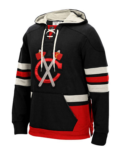 Reebok Chicago Blackhawks CCM Pullover Hoodie-BLACK-Medium 88806843_BLACK_Medium