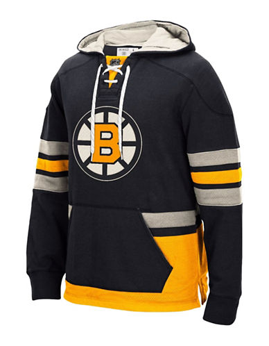 Reebok Boston Bruins CCM Pullover Hoodie-BLACK-Large