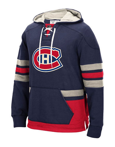 Reebok Montreal Canadiens CCM Pullover Hoodie-TRUE NAVY-Small