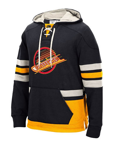 Reebok Vancouver Canucks CCM Pullover Hoodie-BLACK-XX-Large