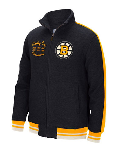 Reebok Boston Bruins CCM Fleece Jacket-BLACK-X-Large 88806907_BLACK_X-Large