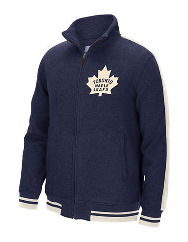 Reebok Toronto Maple Leafs CCM Fleece Jacket-DARK NAVY-X-Large