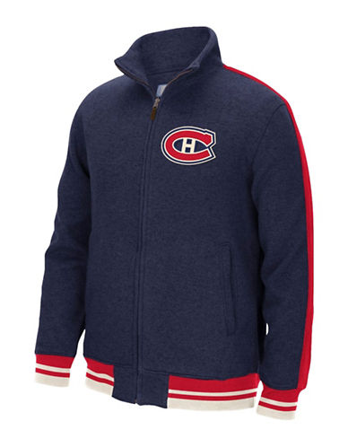 Reebok Montreal Canadiens CCM Fleece Jacket-DARK NAVY-X-Large
