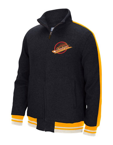 Reebok Vancouver Canucks CCM Fleece Jacket-BLACK-X-Large