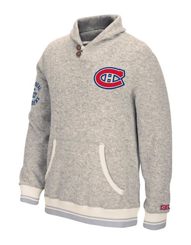 Reebok Montreal Canadiens CCM Popover Sweater-LIGHT GREY-Small