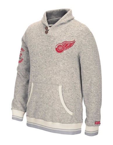 Reebok Detroit Red Wings CCM Popover Sweater-LIGHT GREY-Large 88806880_LIGHT GREY_Large