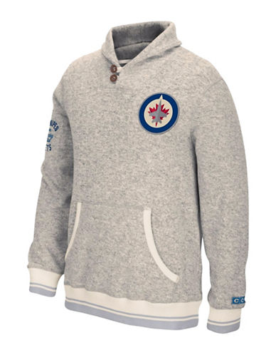 Reebok Winnipeg Jets CCM Popover Sweater-LIGHT GREY-X-Large