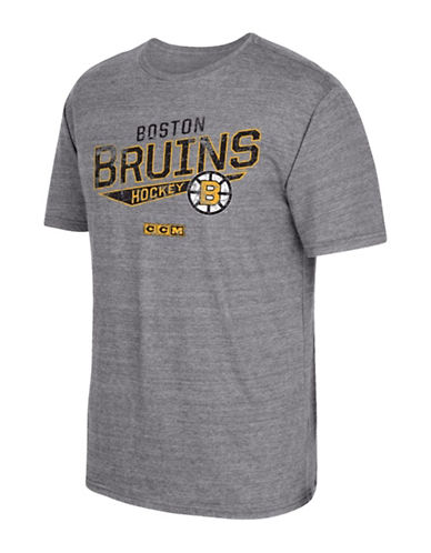 Reebok Boston Bruins CCM No Mercy T-Shirt-GREY-Small