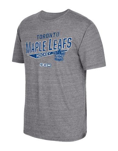 Reebok Toronto Maple Leafs CCM No Mercy T-Shirt-GREY-Small