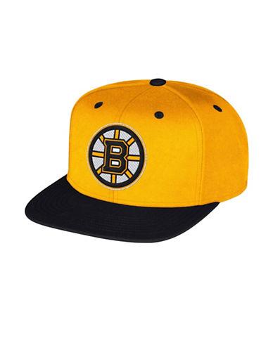 Reebok Boston Bruins Multi-Tone Flat Brim Wool Snapback Cap-YELLOW-One Size