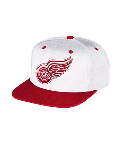 Reebok Detroit Red Wings Multi-Tone Flat Brim Wool Snapback Cap-RED-One Size