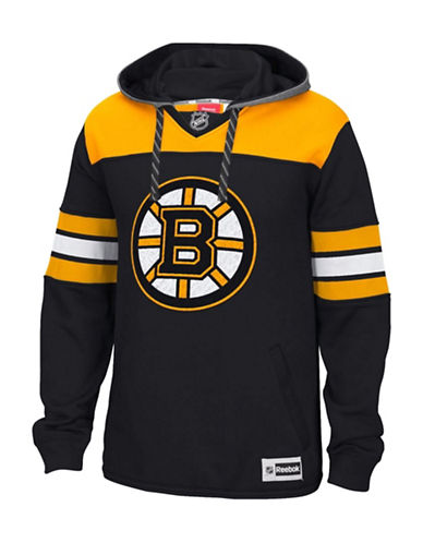 Reebok Boston Bruins Team Jersey Hoodie-BLACK-Small 88806213_BLACK_Small
