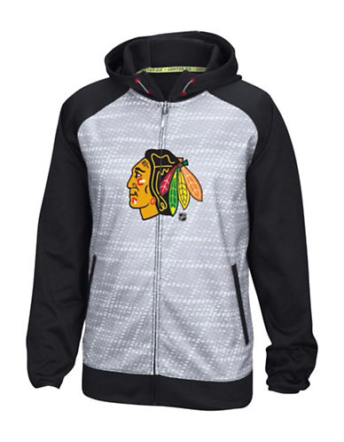 Reebok Chicago Blackhawks TNT Full-Zip Jacket-BLACK-Medium