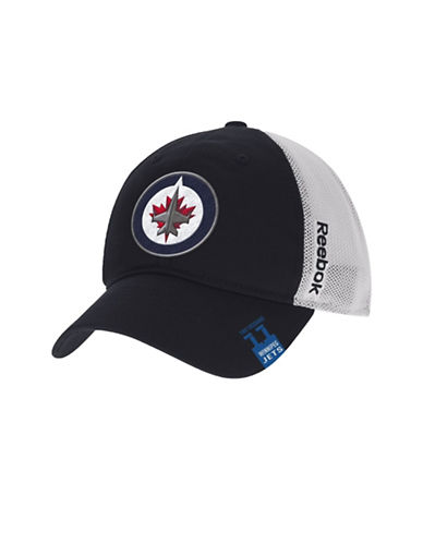 Reebok Center Ice Winnipeg Jets Team Slouch Cap-BLACK-L/XL