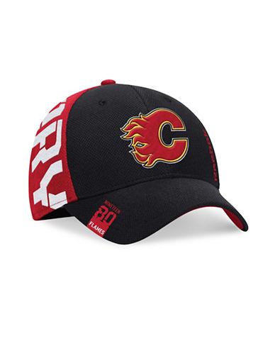 Reebok Center Ice Calgary Flames NHL Draft Cap-BLACK/RED-S/M