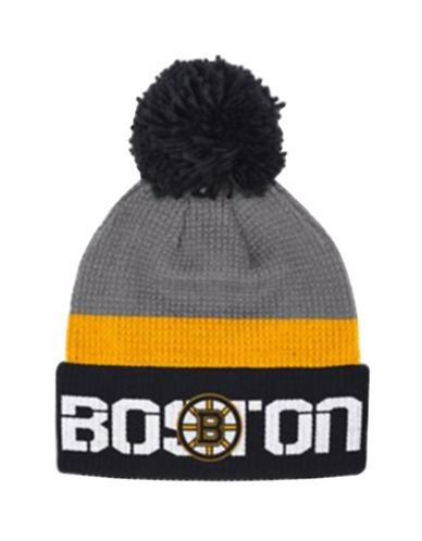 Reebok Boston Bruins Cuffed Pom-Pom Knit Tuque-GREY-One Size