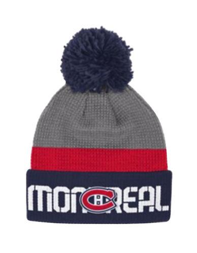 Reebok Montreal Canadiens Cuffed Pom-Pom Knit Tuque-GREY-One Size