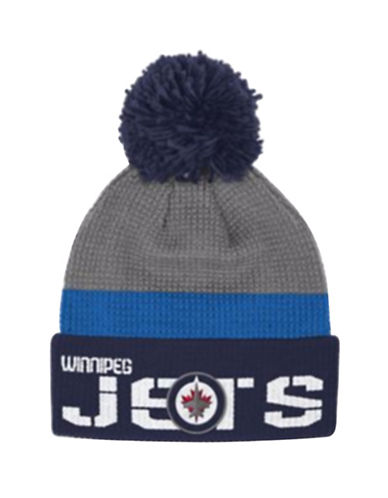 Reebok Winnipeg Jets Cuffed Pom-Pom Knit Tuque-GREY-One Size