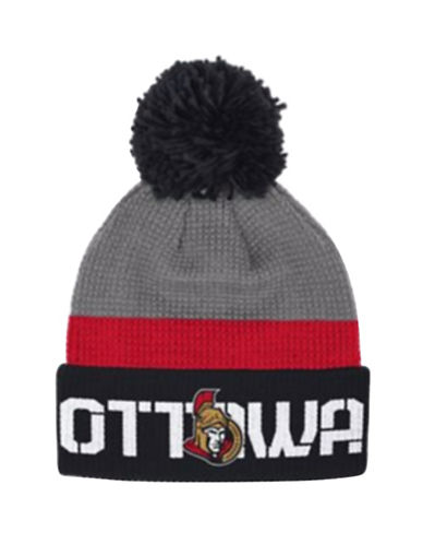 Reebok Ottawa Senators Cuffed Pom-Pom Knit Tuque-GREY-One Size