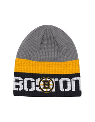 Reebok Boston Bruins Knit Beanie-GREY-One Size
