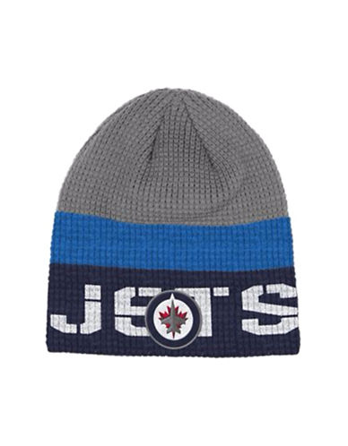Reebok Winnipeg Jets Knit Beanie-GREY-One Size