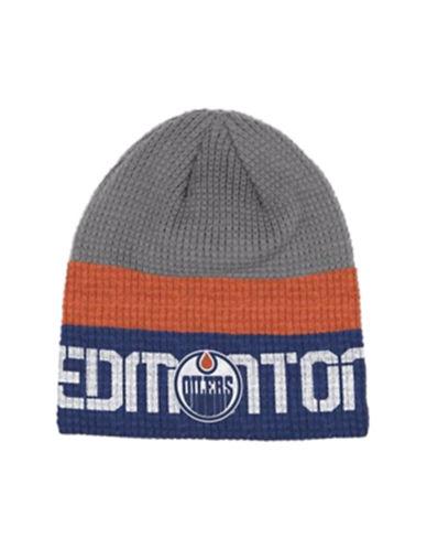 Reebok Edmonton Oilers Knit Beanie-GREY-One Size