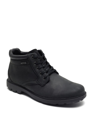 Rockport Rugged Leather Boots-BLACK-11.5W