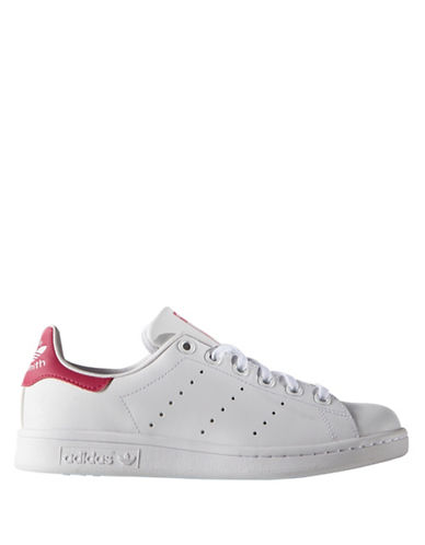 Adidas Kids Stan Smith J Leather Sneakers-PINK-4