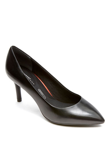 Rockport Total Motion 75Mm Pointy Toe Pump-BLACK-10
