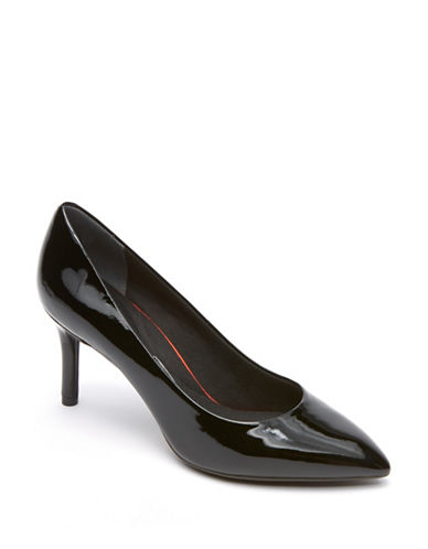 Rockport Total Motion Patent Leather Pumps-BLACK PATENT-8W