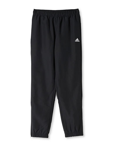 Adidas Solid Woven Pants-BLACK-Small 88634492_BLACK_Small