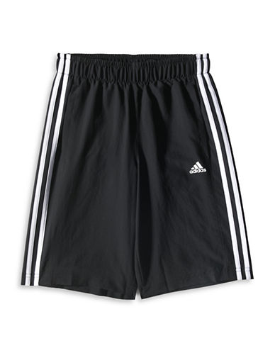 Adidas Essential Striped Woven Shorts-BLACK-Large 88374481_BLACK_Large