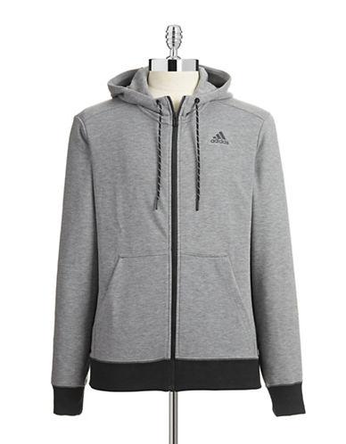 Adidas Contrast Zip Hoodie-GREY-X-Large 87470797_GREY_X-Large