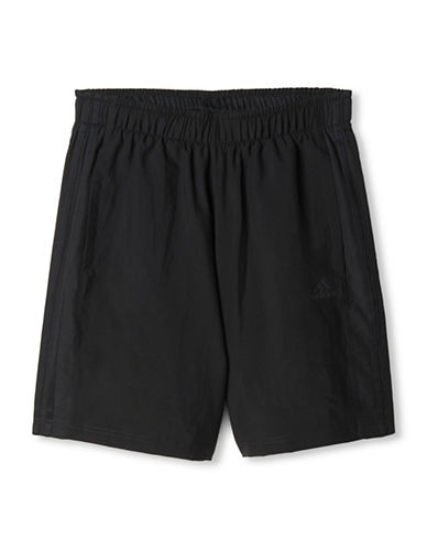 Adidas Essential Three Stripe Shorts-BLACK-Medium 88779431_BLACK_Medium