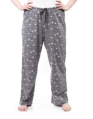 Hue Script Pyjama Pant-GREY-1X