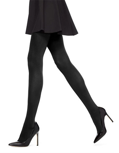 Hue Opaque Control Top Tights-BLACK-1