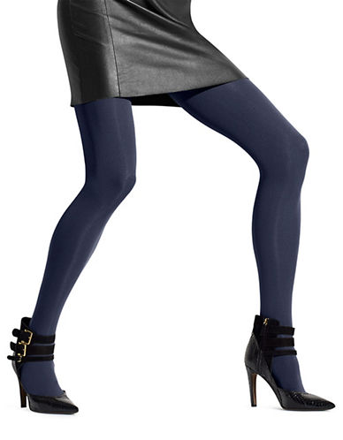 Hue StyleTech Seamless Opaque Tights-NAVY-1